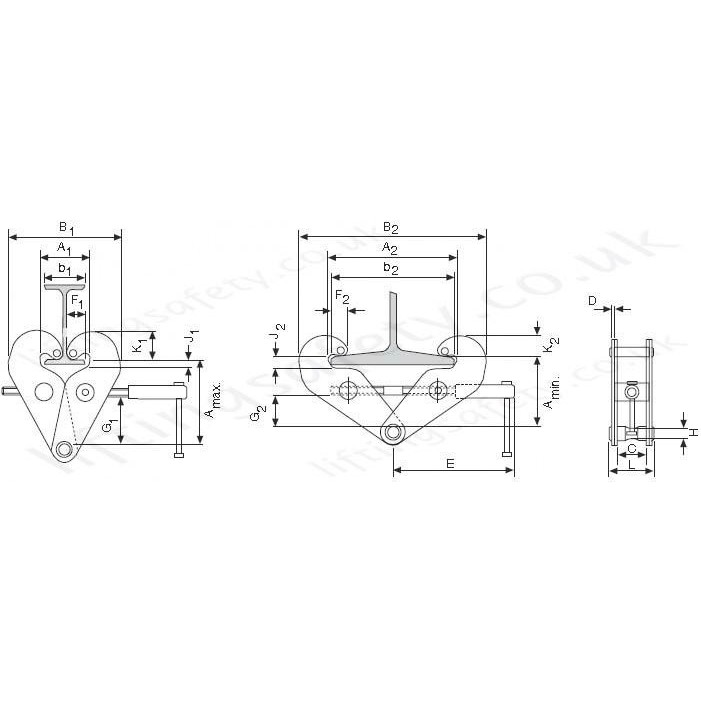 CM / Yale YC Beam Clamps