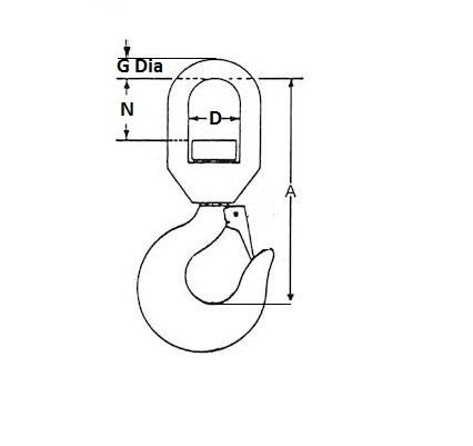 Safety Swivel Eye Hook